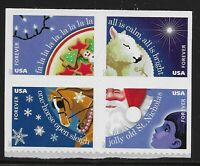 US Scott #5247-50, DOUBLE SIDED Block of 4 2017 Christmas VF MNH