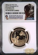 2019 S $1Proof Sacagawea NGC PF70 UCAM ROCKET SHIP SET FIRST REL.  50K MINTED