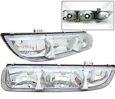 Closeout Deal- Fit For 96-99 Saturn SL Euro Clear Chrome Housing Headlights