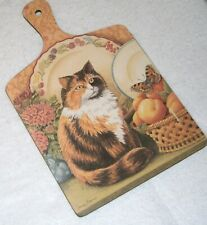 Vguc! Calico Cat Collectable Chopping Board by Jenny Barron, Wilscombe Melamine