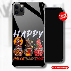 Gnomes Happy Halloween Thanksgiving Christmas iPhone 13 Samsung S21 Phone Case
