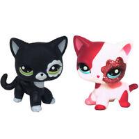 2 pcs LPS Toys #2249 #2291 Littlest Pet Shop Rare Short Hair Cat Birthday Gifts