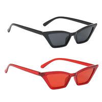 2pcs Fashion Cat Eye Sonnenbrille Kleine Vintage Brille UV400 Eyewear Shades
