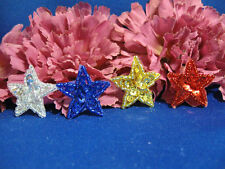 SEQUIN BEADED FOUR 1 INCH STAR APPLIQUES 0081-T2