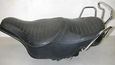Vintage HARLEY-DAVIDSON Black Motorcycle Dual Seat w/ Adjustable Springs