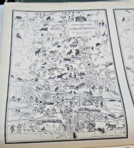 1933 Animated Map Of Saskatchewan By Arthur E. Elias From The Commercial Atlas