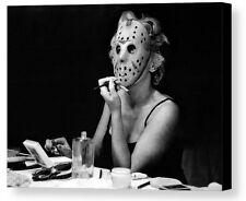 Framed Marilyn Monroe Friday The 13th Jason Mask 9X11 Print odd weird goth