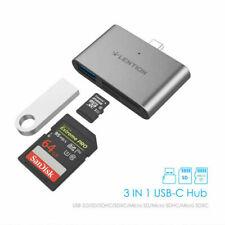 LENTION 3-IN-1 USB-C Hub USB 3.0 OTG Adapter Dual Card Reader for 2020 iPad Pro