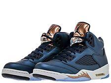 2016 Nike Air Jordan 5 Retro BG SZ 6Y Bronze Obsidian Blue Olympic 440888-416