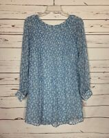 Kimchi Blue Urban Outfitters Women's M Medium Blue Floral Spring Tunic Top Shirt