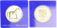 100 Zlotych 1981, Polen, Silbermünze Pferd, PP in Kapsel