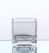 """12 pcs 5"""" Glass cube Vases VCB0005 ."""