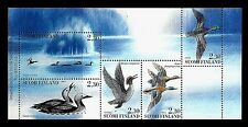 FINLAND. Water birds. Booklet pane of 5. 1993, Scott 925a. MNH (BI#13)