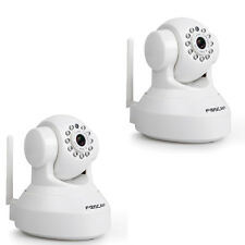 2 Pack P2P Foscam FI9816P Wireless 720P Cloud IP Camera SD Storage DDNS White
