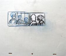 SIMPSONS Original Animation Art Cel Production Drawing Homer Marge Lisa #16