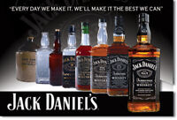Jack Daniels Whiskey Flaschen Sammlung vintage bis neu USA Magnet Magnetschild