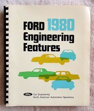 RARE 1980 Lincoln Mercury Ford Engineering Features book, Mustang Capri T-bird