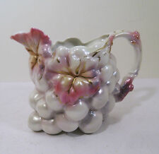 ROYAL BAYREUTH PORCELAIN CREAM PITCHER - CLUSTER GRAPES WHITE SATIN PEARL LUSTRE