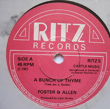"""FOSTER & ALLEN - A Bunch Of Thyme - Excellent Condition 7"""" Single RITZ 5"""