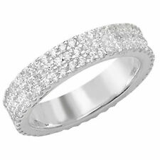 Cubic Zirconia Band Fine Rings