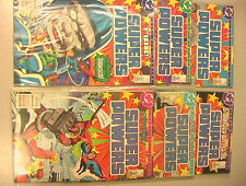 Super Powers VINTAGE 1985-86 Set of 6 Comics Mini-Series Jack Kirby DC Justice!!