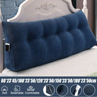 Cotton Wedge Lumbar Pillow Back Neck Support Cushion Soft Bed Headboard Rest