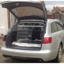 PET WORLD NEW AUDI A6 AVANT SLOPING CAR DOG CAGE BOOT TRAVEL CRATE PUPPY GUARD