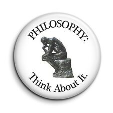 Funny Philosophy Thinking Man Cute Novelty Button Fridge Magnet - 38mm/1.5 inch
