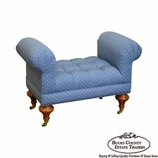 Regency Style Small Tufted Bench Labeled Calico Corners