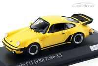 1:43 MINICHAMPS 1978 PORSCHE 911 (930) Turbo 3.3 yellow 200 cartima EXCLUSIVE