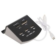 3-Port OTG USB 2.0 HUB Splitter Combo Stand Card Reader Support Micro SD M2 MS