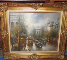 Gail Corbett Sherman (1871-1952) Impressionist Parisian Street Scene c 1950