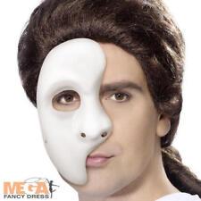Máscara Facial Fantasma Para Hombres Adultos Halloween Elaborado Vestido de Disfraz de ópera de Película Accesorio
