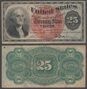 U.S. Fractional Currency, 25 Cents, 1863, VF++ (corner pinhole), P-118