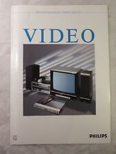 altes Prospekt alter Katalog Philips Video Katalog 1986 1987 Videorecorder TV