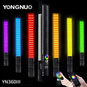 Yongnuo YN360III PRO LED Video Light Handheld Stick Bar 3200-5600K RGB -UK