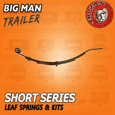 1xTROJAN Black 2 LEAF SLIPPER SPRING SHORT SERIES DACROMET 500KG Trailers 260062