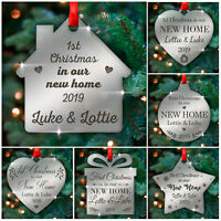 Personalised First 1st Christmas In Our New Home Tree Decoration Couples Gifts