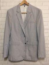 Sean John Blazer Jacket Size XXL Men's M# 108086 Light Blue Pin-Striped *EUC*