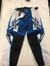 FLY F-16 Motocross MX Pants Trousers (Blue, Black, White) Kids Youth 24""