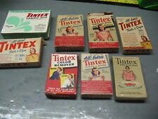TINTEX  TINTS  AND  DYES  VINTAGE  LOT  (8)  WITH  CONTENTS     AMERICANA
