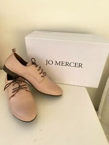 Jo Mercer flats lace up shoes genuine leather sneakers size 36 baby pink blush