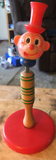 Vintage Wooden Bobble Head Clown Good Condition