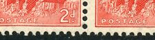 1937~38 2d KGVI Acsc187Ag SCARLET DIE1 *WEAK ENTRY UNDER POSTAGE ShD R5/5* MNH.