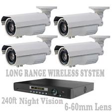 Long Distance Wireless Video Transmission CCTV  Weatherproof Cameras + DVR