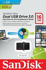 SanDisk Ultra 16GB USB 3.0 OTG Flash Drive w/ Micro USB for Android Devices