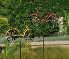 Gartendeko Fahrrad Metall gelb/rot 160cm