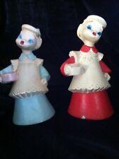 2 Vintage Verdan Lolayne Chalkware 1941 House Wife Figurine