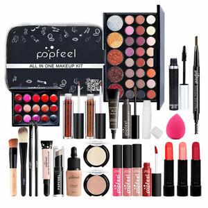 27PCS Professional Makeup Set Portable Travel Makeup Organizer Storage Box Gifts