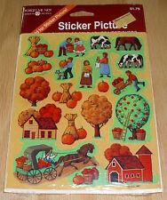 American Greetings Sticker Farm Thanksgiving Fall Harvest NIP Free Ship Over $15